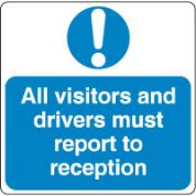 Mandatory Safety Sign - All Visitors 028